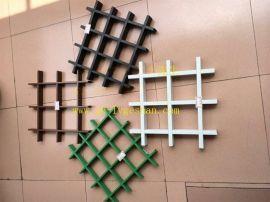 供應甘肅彩色/木紋鋁格柵 三角形鋁格柵 菱形鋁格柵天花吊頂 鋁格柵廠家