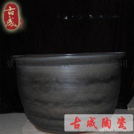 景德鎮陶瓷大缸 溫泉陶瓷泡澡缸 日式陶瓷浴缸直徑1.2米廠家直銷