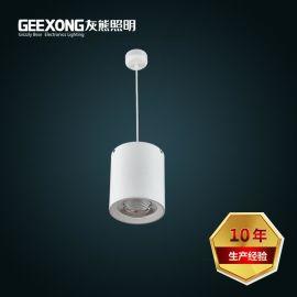 定制7w10w15w20w30w40w50w餐飲店圓形吊線式LED明裝筒燈COB筒燈