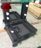 專業大型拉杆化妝箱 帶燈帶支架大號大容量大鏡面鏡子萬向輪