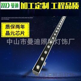 LED洗墙灯1000*46*46 外墙灯 LED线条灯 七彩桥梁灯 12W/18W/24W36W