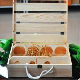 热卖红酒木盒平排定制包装盒四支红酒木盒子葡萄酒箱木盒礼盒批发 修改