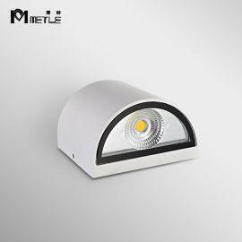 麥特2074LED雙頭壁燈鋁材酒店牀頭燈現代簡約戶外防水壁燈客廳走廊過道燈