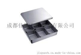 不锈钢六格装 日式调料盒加厚 烹饪调味盆 厨房用品