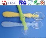 硅胶婴幼儿训练勺硅胶喂养勺 儿童硅胶软勺 母婴用品