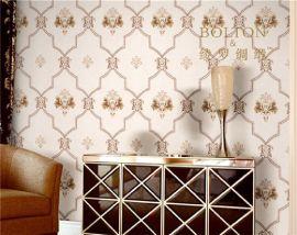 寶路通刺繡牆布,花型飽滿立體感強,美式歐式蘇繡牆布