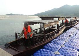 楚风木船出售仿古木船摇橹船景区观光船