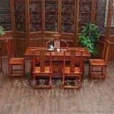 陕西西安榆木茶桌,仿古茶桌,实木茶桌以及红木茶桌