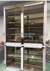 酒庄不锈钢红酒柜订做不锈钢玻璃酒柜