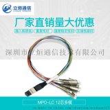 多模彩色束状光缆生产厂家直销MPO-LC12芯