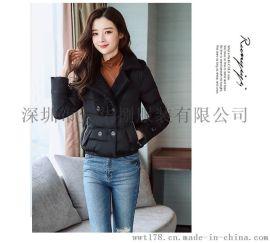 韩版原宿女装羊羔毛绒加厚棉衣服女士短款小棉袄外套冬