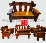 老船木沙发家具设计船木罗汉床船木大龙骨沙发万子阁沙发