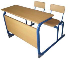 双人连体课桌工厂直销