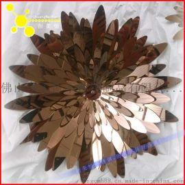定制商场不锈钢装饰花 中堂吊饰不锈钢花 电镀玫瑰金