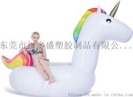 七彩馬獨角獸浮排 水上坐騎 水上休閒娛樂玩具