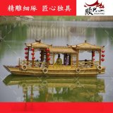 兴化顺兴木船厂家现货供应水上餐饮船 大型观光船 画舫木船出售