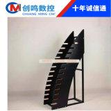 弧形木插架数控雕刻机 瓷砖展示架切割机 展览展架加工设备
