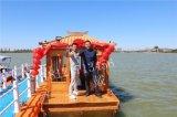 餐厅船画舫木船安徽合肥电动船大型餐饮船价格便宜