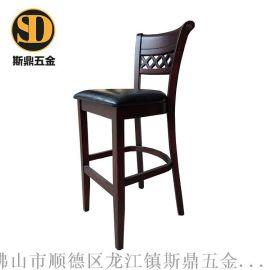 实木酒吧椅厂家/休闲咖啡厅吧椅/吧台椅酒吧椅/高脚吧台凳