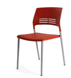 四腳塑料椅,疊落塑料椅,無扶手塑料椅