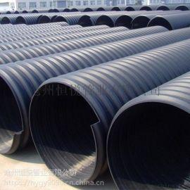 聚乙烯HDPE鋼帶增強螺旋波紋管 河北恆悅供應商