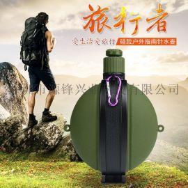 创意新品户外运动水壶时尚可折叠登山旅行水杯硅胶水壶厂家批发