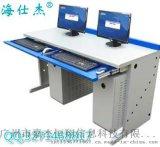 钢制学生电脑桌台|海仕杰DNZ-2100双人位电脑桌