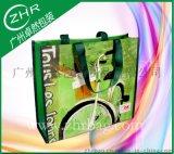 加厚彩印手提购物袋 覆膜PP礼品袋 车缝塑料编织袋 腹膜环保袋