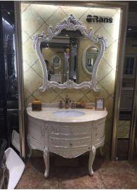 恩典家具廠家直銷歐式橡木浴室櫃 仿古浴室櫃