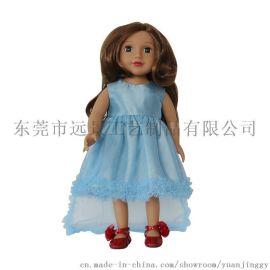 工厂直供18寸美国女孩娃娃 仿真搪胶公仔