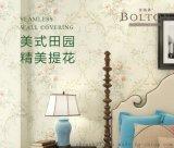 宝路通提花无缝墙布,美式田园做旧,高精密色织布