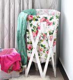 韩式宜家田园布艺折叠 收纳篮 储物篓 脏衣篮 杂物衣物收纳框