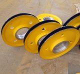 河南滑轮厂家 起重机滑轮组  80t铸钢滑轮 吊钩动滑轮 抓斗定滑轮 吊车滑轮组