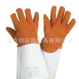 霍尼韋爾防金屬飛濺顆粒鹿皮焊接隔熱手套2012847 9碼