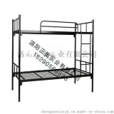 铁床双层学生宿舍床上下挂钩式卡扣公寓床出口床定制