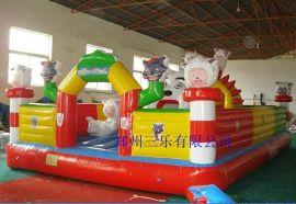 江苏镇江40平方米儿童充气蹦蹦床  幼儿园专用吹气跳跳床哪里有卖