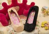 韓國進口短絲襪復古時尚百搭蕾絲襪女士硅膠隱形襪船襪