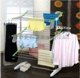 HOMEPOWER不锈钢衣架室内晾衣架落地折叠阳台置地晾衣架