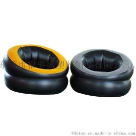 廠家福多盛直銷充氣植絨沙發  充氣休閒家具