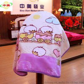 廠家定做兒童卡通拉舍爾毛毯超柔雙層雲毯蓋毯