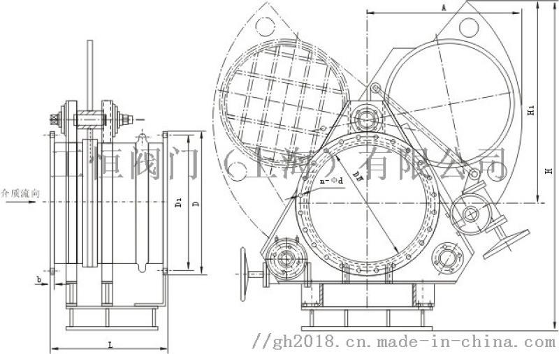 f9t43x电动推杆扇形眼镜阀/阀门厂家图片