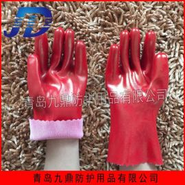 厂家直销浸胶工业手套针织芯耐油耐酸碱PVC涂层防护用品挂胶手套