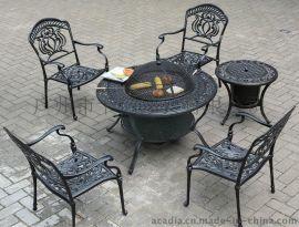供應鑄鋁燒烤桌椅/燒烤爐/戶外休閒家具(KY-9138)