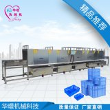 廠家直銷華璟洗箱機 全自動周轉箱清洗機價格 全自動洗箱機