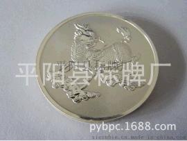平陽標牌廠批發專業定做銀麒麟純銀紀念幣 紀念章 紀念品免費設計定制