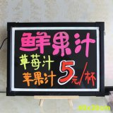 索彩40*30荧光板深圳厂家直销LED电子手写广告板七彩发光黑板