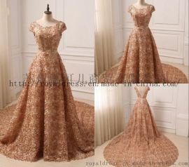 2018 金色婚纱Gold Bridal Gown