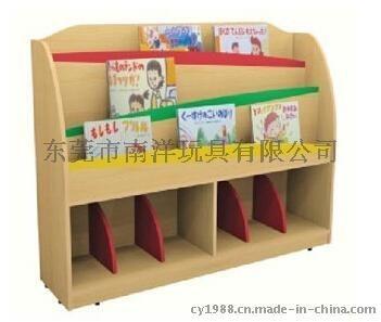 木制图书架 原木书柜 幼儿园书架图片