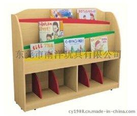 木制圖書架 原木書櫃 幼兒園書架