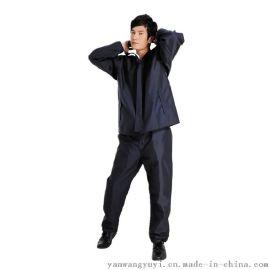 燕王摩托车电动车雨衣 时尚韩国桃皮绒男女分体骑行雨裤雨衣套装加厚